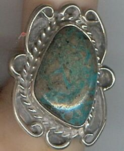 Large-Free-form-Green-Turquoise-Cabochon-in-Sterling-Silver-in-Size-6-3-4-Ring