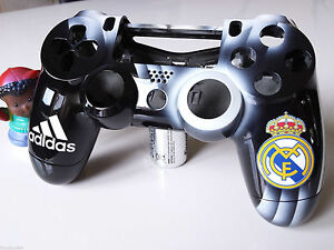 coque manette ps4 custom l 39 a rographe dualshock 4 sixaxis real madrid ebay. Black Bedroom Furniture Sets. Home Design Ideas