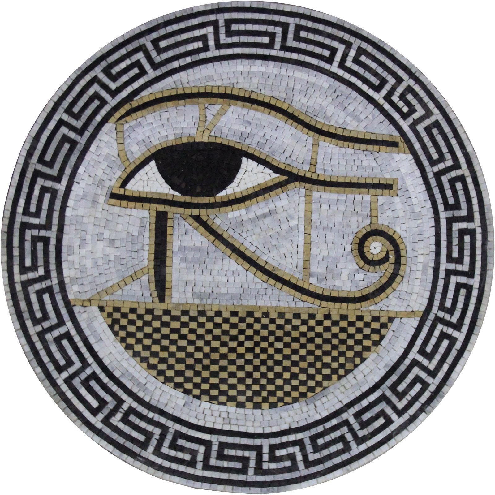 Eye Of The Nile Medallion Mural Design Marble Mosaic MD987