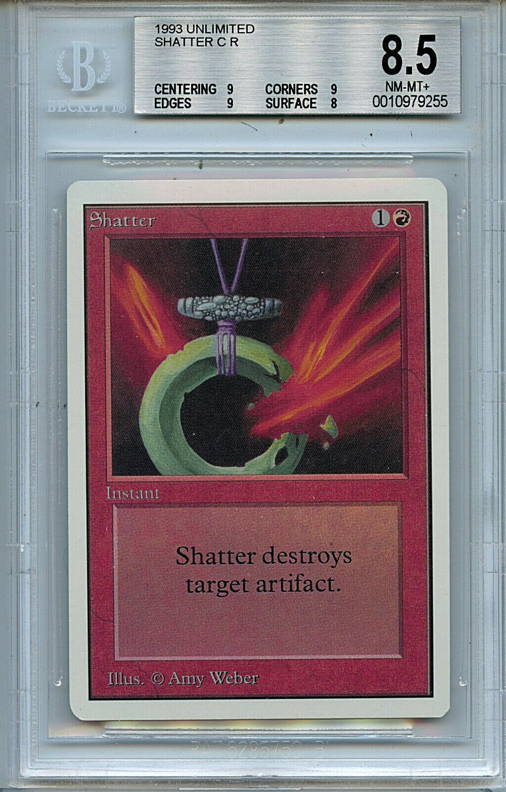MTG Unlimited Unlimited Unlimited Shatter BGS 8.5 NM-MT+ card Magic Amricons 9255 426c50