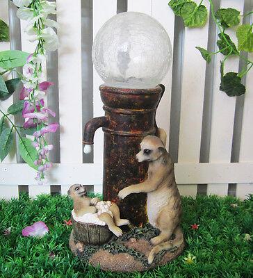 Garden Home Yard LED Colour Changing Solar Light Meerkat Ornament Decoration