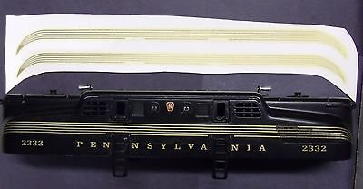 Set Of Lionel Post-war #2360 GG1 PA White Nose PRE-TRIMMED Waterslide Decals