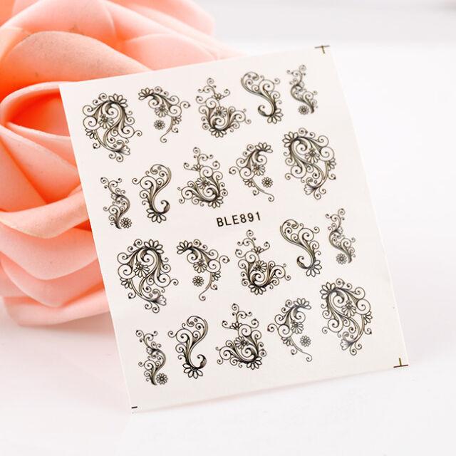 New Stylish Pattern RETRO Decals Water Transfer Nail Sticker Nail Art Decoration