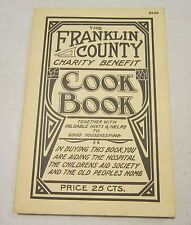 Vint repro of 1913 Franklin County PA Charity Benefit Cookbook - great old ads