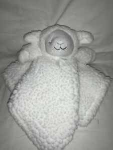 Blankets and Beyond Teddy Bear White Cream Security Blanket Lovey Soft Sherpa