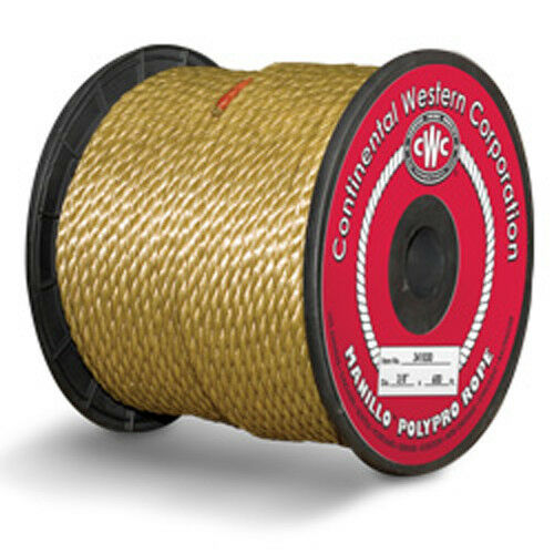 CWC MANILLO 3-Strand Polypropylene Rope   Tan Polypro Rope  - 3 8  x 600 ft._  the classic style
