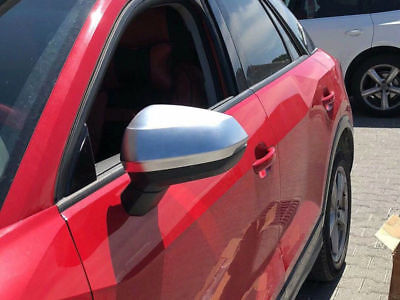 ABS Matte Rearview Side Door Mirror Cover Trim 2pcs For Audi Q2 2016 2017-2019