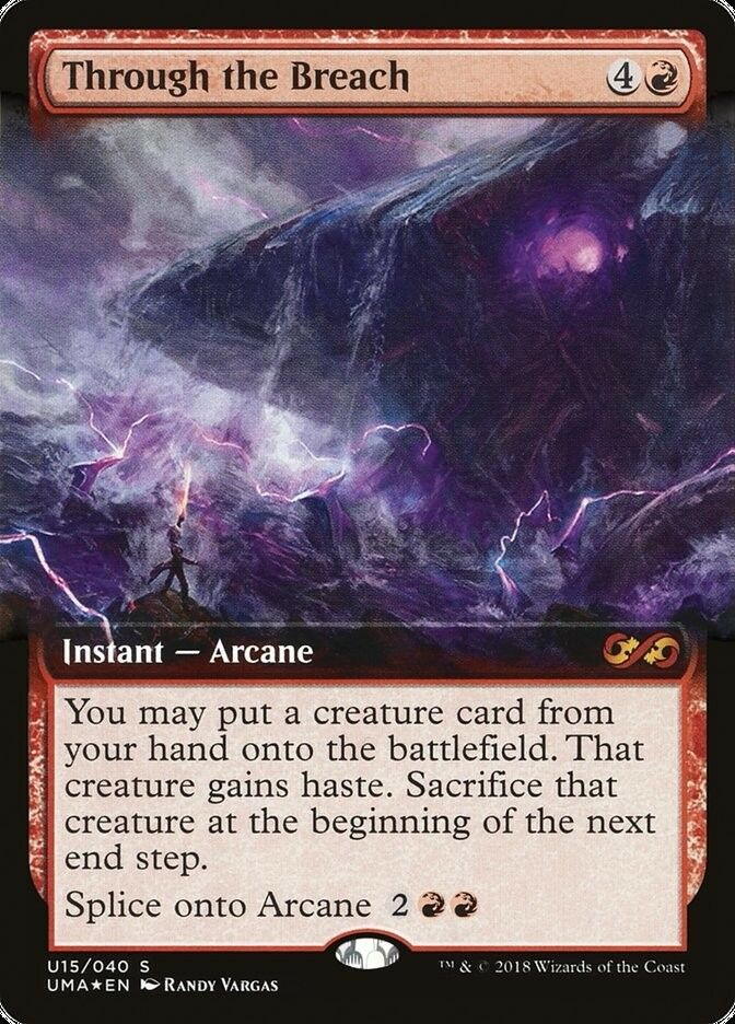 1x Through the Breach MTG Ultimate Masters Box Topper  NM
