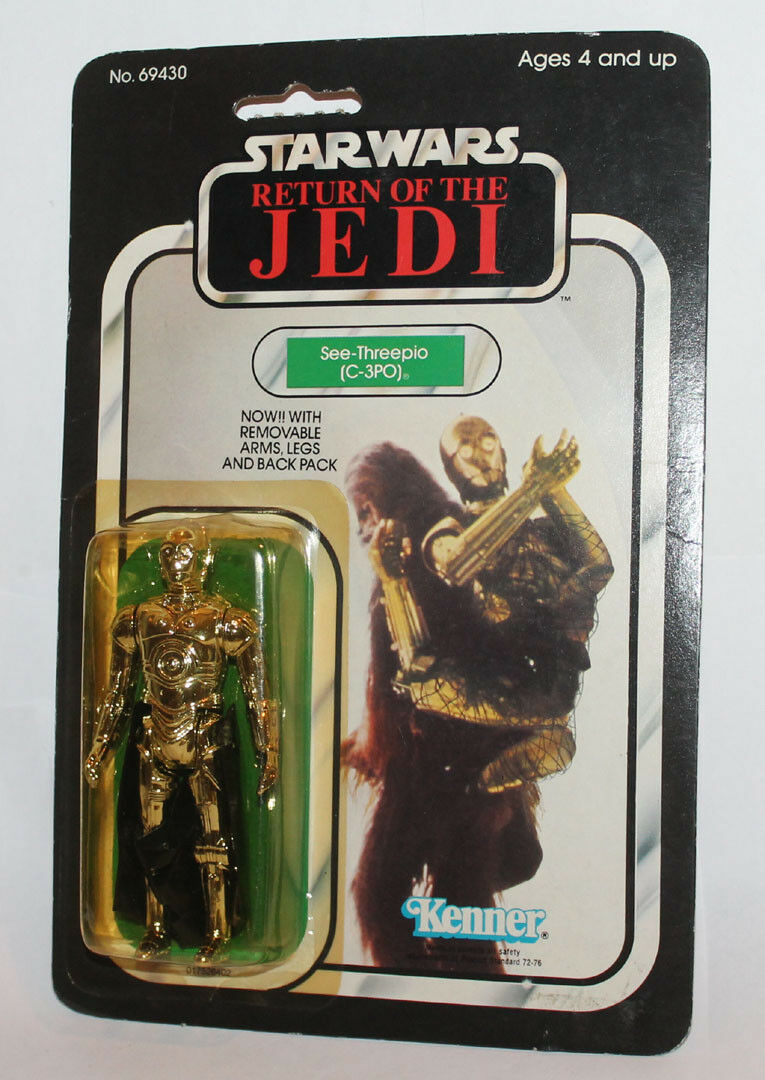 Kenner Star Wars Rotj C-3PO Kardiert Moc Japan Tsukuda Return Of The Jedi Ovp