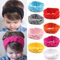 Baby Kids Girl Weave Braid Knot Turban Hood Headband Hairband Cotton Head Hot