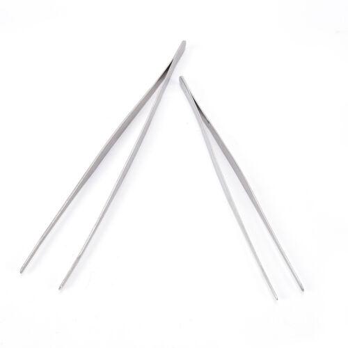 Argent Acier Inoxydable Long Aliments Pinces droites brucelles cuisine outils!