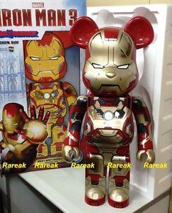 63dcaa79 Be@rbrick 2015 Marvel Iron Man 3 1000% Mark XLII 42 Damage version ...
