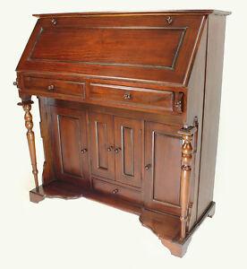 Scrittoio scrivania a ribalta con cassettiera arredamento for Ebay arredamento antiquariato