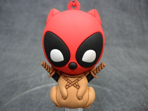 Deadpool NEW 3-D Figural Key Chain Blind Bag Keychain Ring Squirrelpool