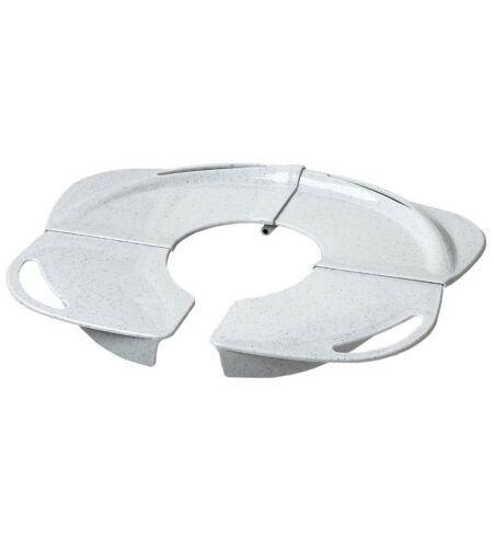 White granite PRIMO Folding Potty with Handles toddler seat training toilet