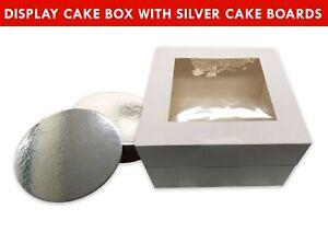 Cake-Boxes-Window-Display-10x10x6-10Pk-Boards-10-034-Cupcake-Muffin-Wedding-Cases