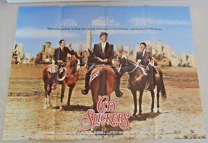City Slickers Original 1991 Cinema Uk Quad Movie Poster Billy Crystal 30 X 40 Ebay