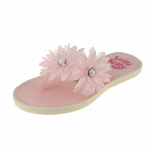 Lelli Kelly Kendra filles ROSA Rose Fleur Flipflop
