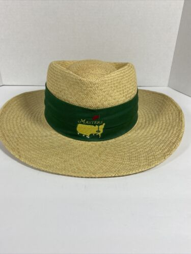 Vintage Masters Straw Hat Augusta Made in USA Texa