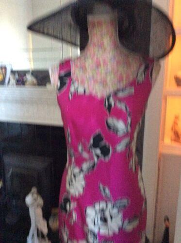 Jacques 10 Pink Kleid Größe Knie Hol Vert Shantung Wiggle Schwarzes Bnwt AqpwFqS4
