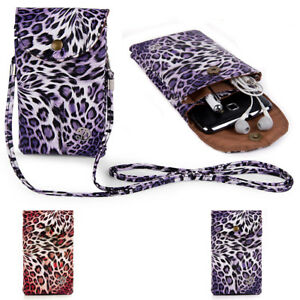 VanGoddy Leopard Printed Phone Crossbody Bag Purse Pouch For iPhone 11 Pro Max