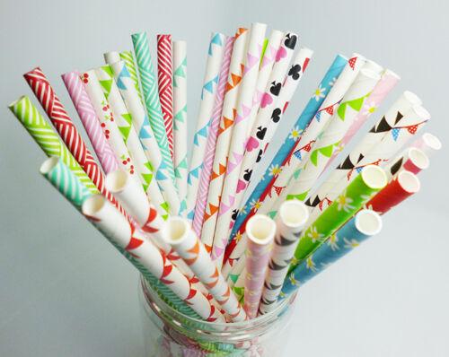 25 Paper Straws Creative Design Drinking Straw For Party Wedding Birthday