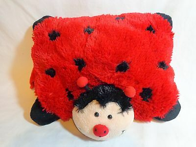 "RED LADYBUG PILLOW PETS Pee Wees 11"" Plush Stuffed Animal Beetle Bug"