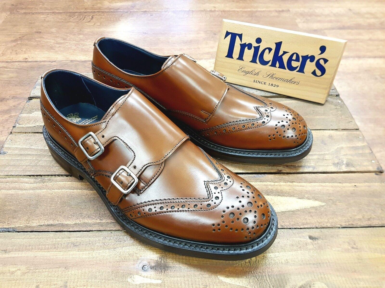 TRICKERS // Morgan Morgan Morgan // Handmade In England   Herren Monk Strap Schuhes // NEW 020d7b