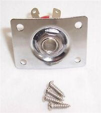 GUITAR JACK PLATE & SOCKET FOR GIBSON/EPIPHONE ETC/ CR