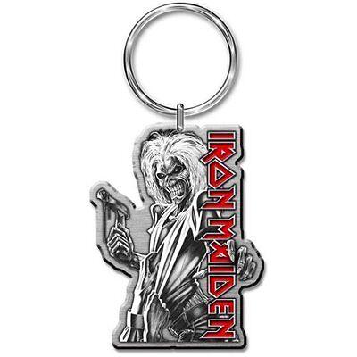 Iron Maiden Killers Portachiavi Keychain Regalo Da Collezione Argento Metallo