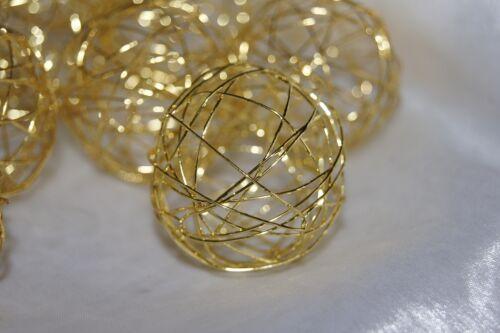 Drahtkugel Kugel Draht Tischdekoration Hochzeit Kommunion Konfirmation 12St gold