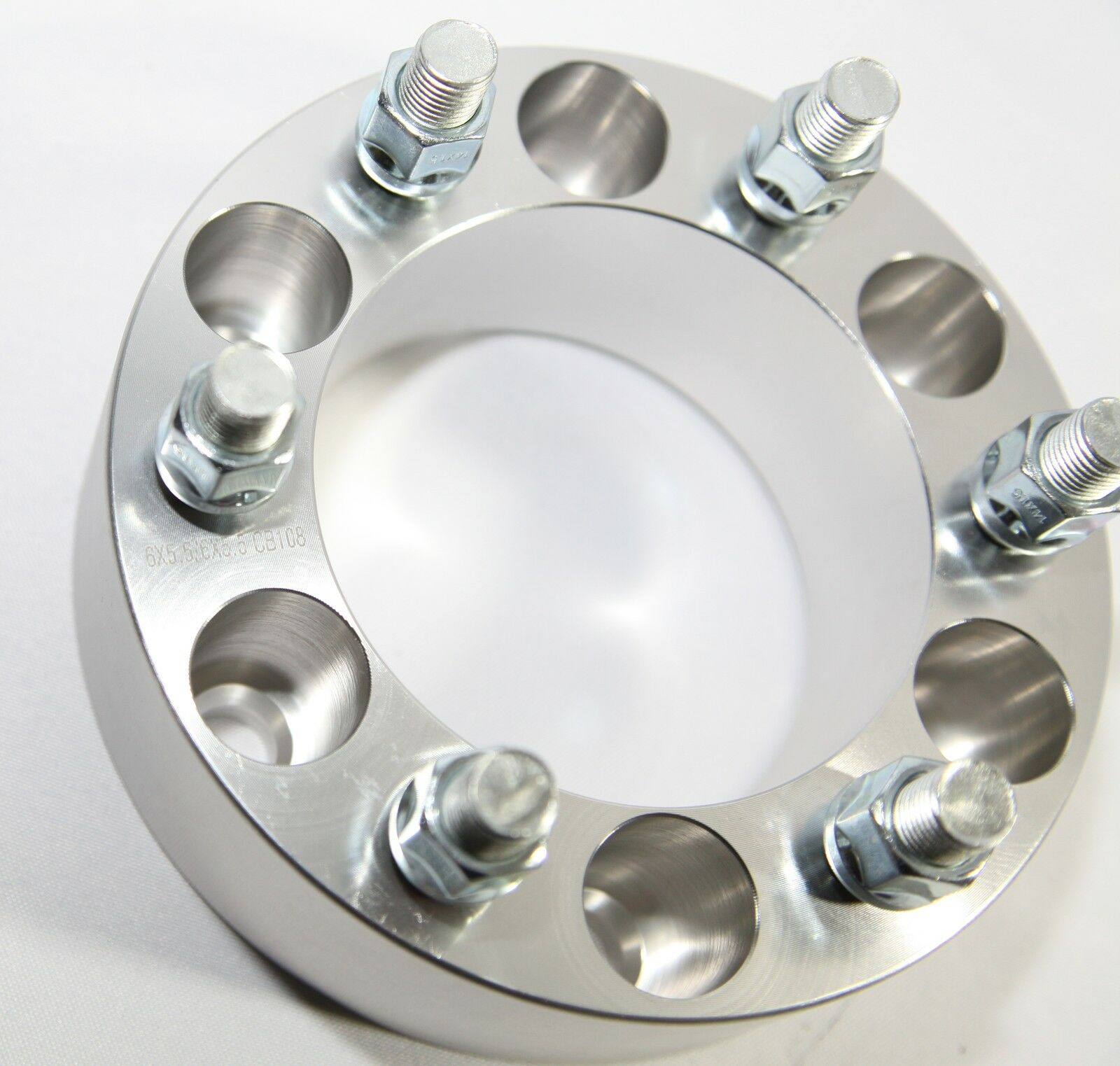 """4pcs 53MM Wheel Spacer for GMC 88-00 C2500//88-98 K1500 6 LUG ONLY Silver 2/"""""""