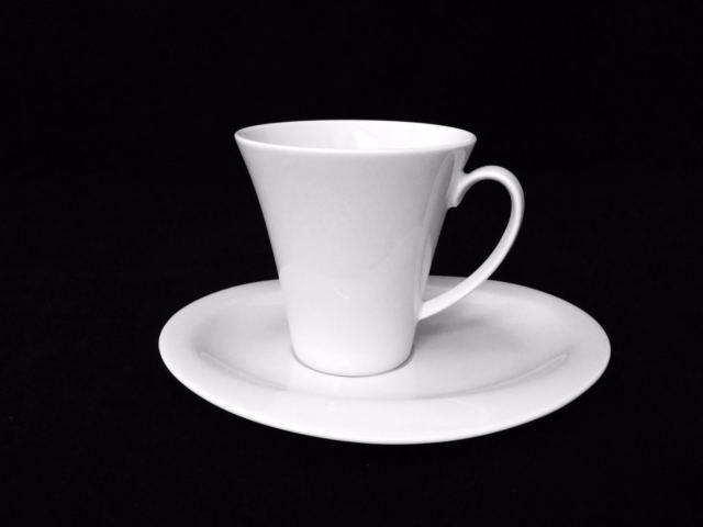 12 Set Seltmann Weiden Top Life Tasse à café 0,09 l Blanc avec soucoupe 16 cm