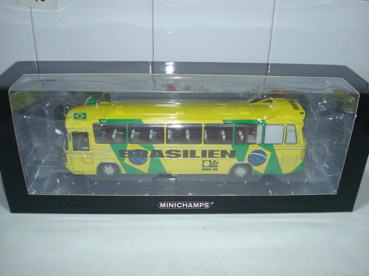 Mercedes O302 Bus Football World Champion 1974 Brasilien Minichamps 439035186