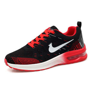 Men-039-s-Jogging-Air-Cushion-Flyknit-Shoes-Athletic-Sports-Outdoor-Running-Sneakers