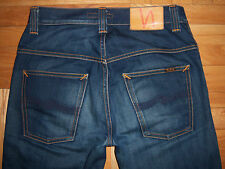 Great Mens NUDIE THIN FINN Greentone blue jeans Size 28 L32