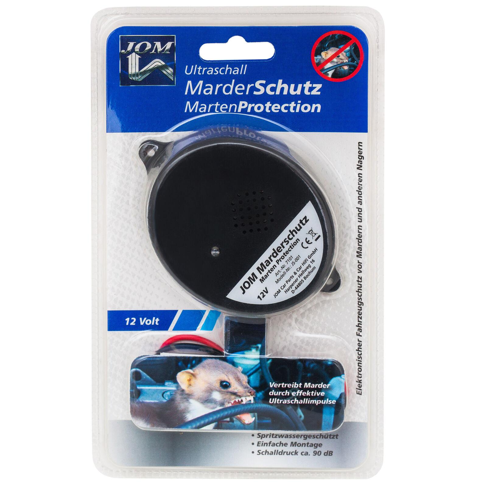 JOM Marderabwehrgerät MARDER Ultraschall Marderschutz 12 Volt />NEU/<