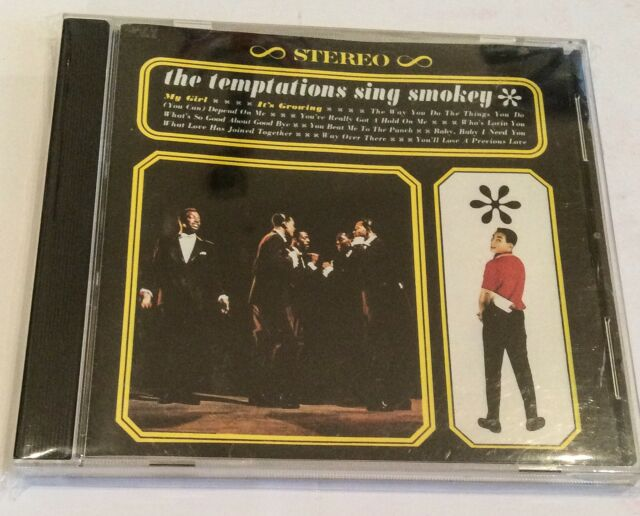 THE TEMPTATIONS SING SMOKEY CD ALBUM 1998 ROBINSONS  ITS GROWING MY GIRL