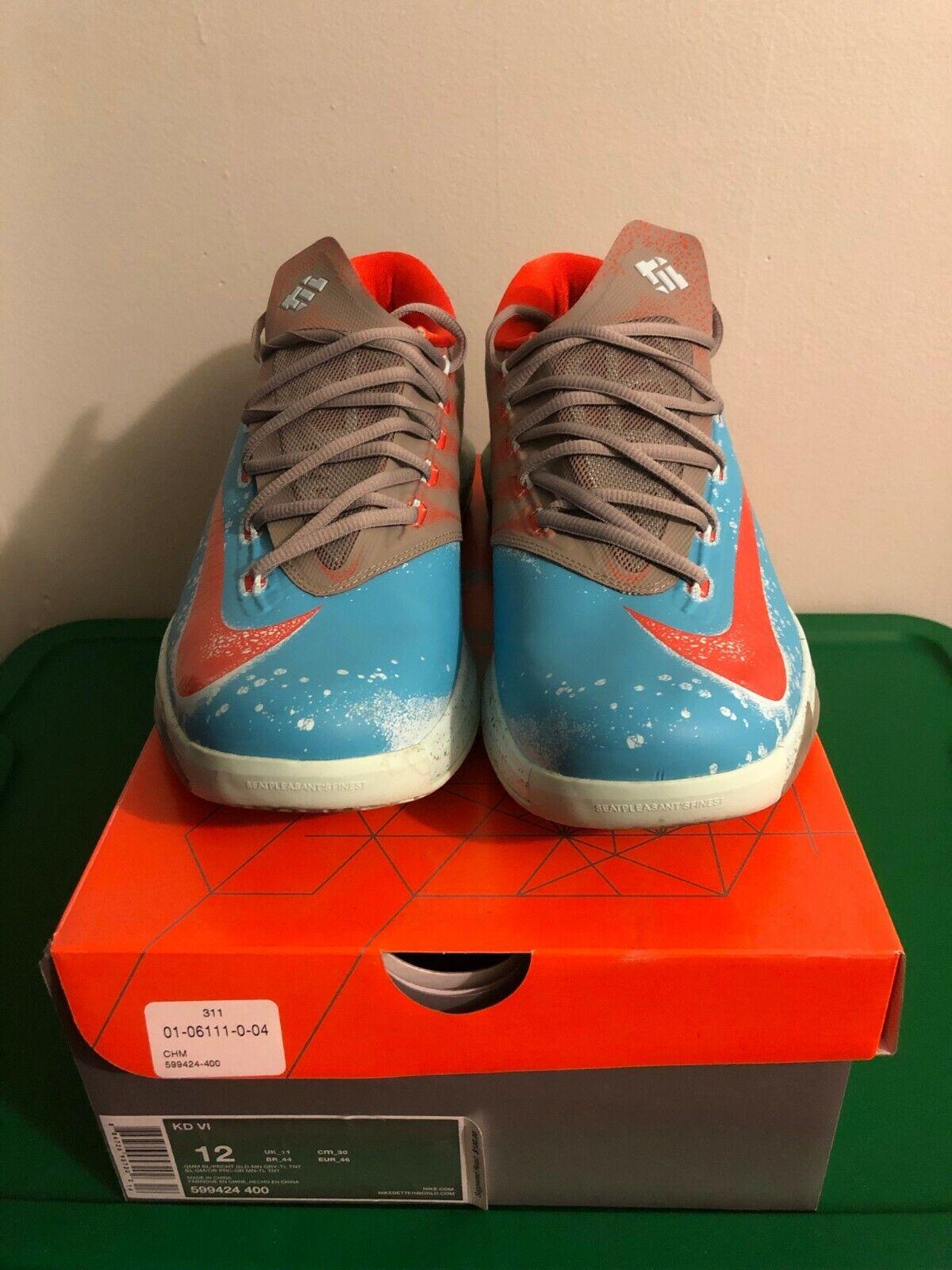 Nike Kevin Durant KD 6 VI bluee Crab Gamma bluee 12 9 10 599424-400