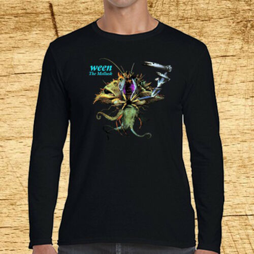 Ween The Mollusk Rock Band Logo Long Sleeve Black T-Shirt Size S to 3XL