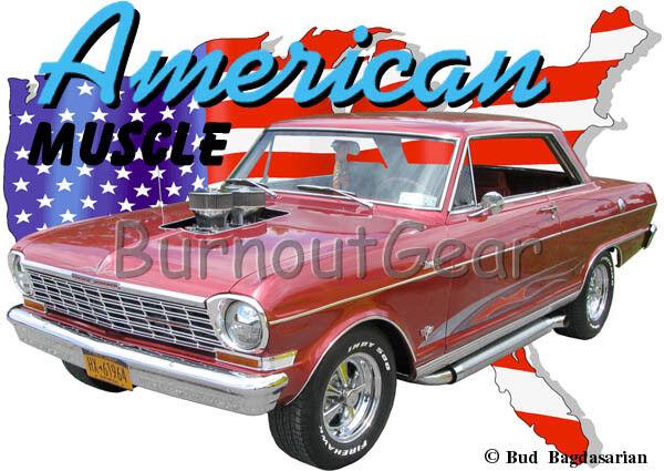 1964 arancia Chevy Nova 2 door b Custom Hot Rod 64 USA T-Shirt 64 Rod Muscle Car Tees bc871f