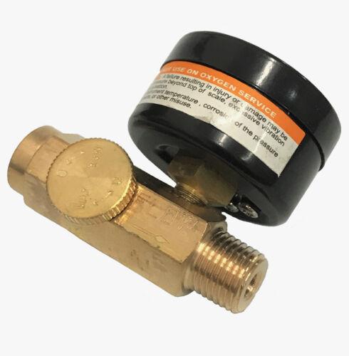 """Lot 2-1//4/"""" In Line Air Regulator w// Gauge HVLP Paint Gun Tool Control Brass"""