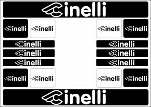CIPOLLINI Road Bicycle Frame Decal Stickers Graphic Set Adhesive Vinyl White