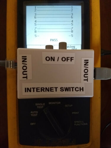 Internet CUT OFF Kill Switch with patch cable