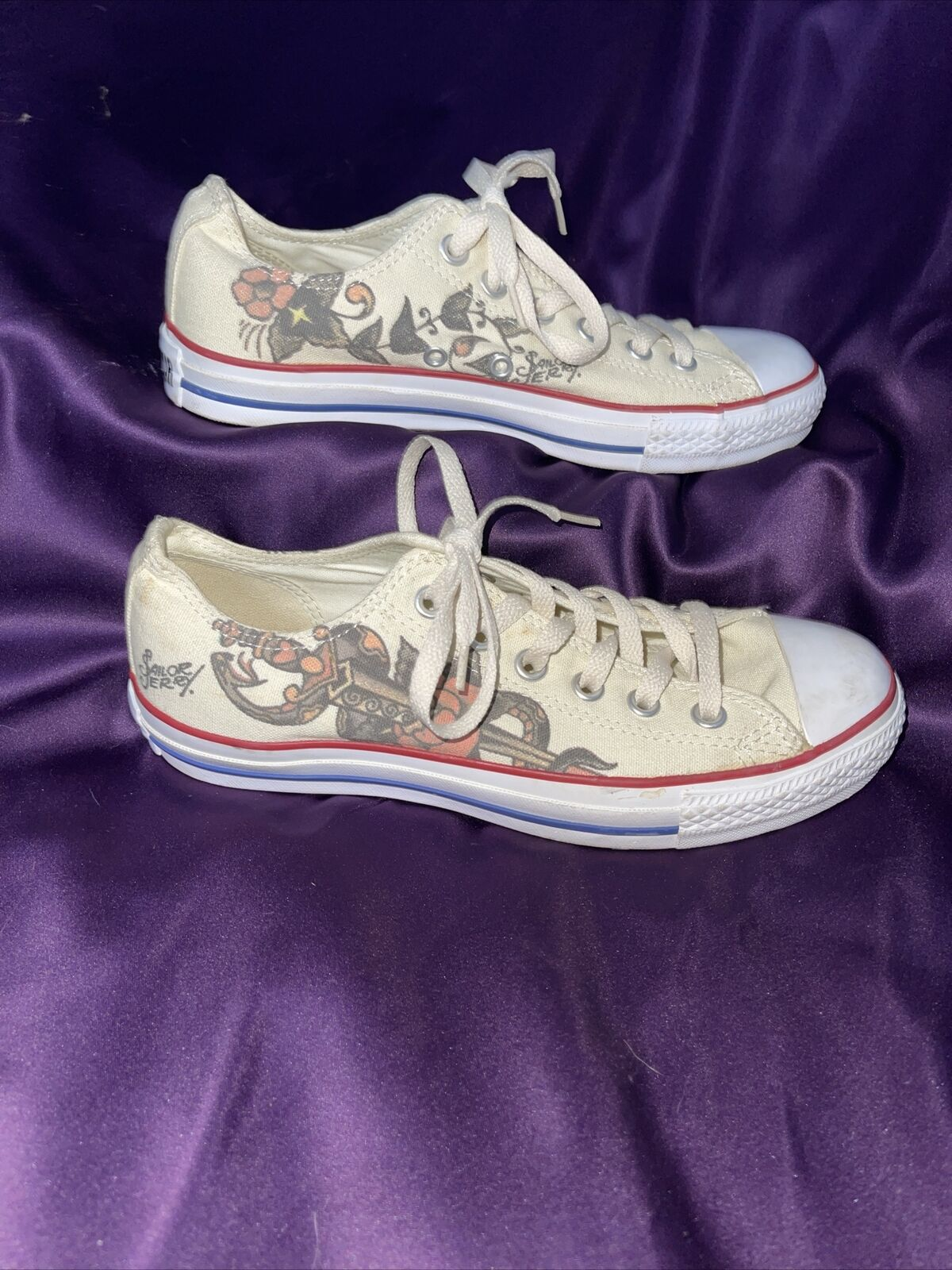 RARE🔥 Converse Chuck Taylor ALL Star Sailor Jerry Death or Glory OX Low Sz 6