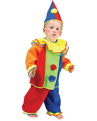Morris Costumes Kids Unisex Baby Bobo Clown Costume Small 4-6 FF740605