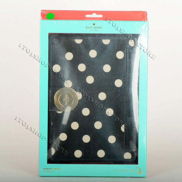 buy popular a43b5 94409 Kate Spade Polka Dot Print Protective Magnet Folio Case for iPad Air 2