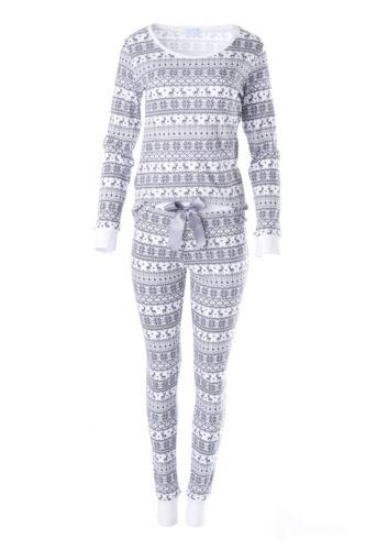 "/%/% LOUIS /& LOUISA /"" Warm ums Herz /"" Pyjama Hirsch grau allover Gr.XS XL NEU /%/%"