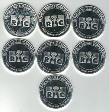 Lot of 5-1 Troy oz RMC Republic Metals .999 Fine Silver Round