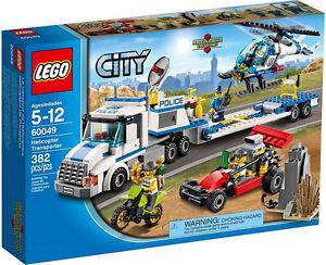 image is loading january 2014 lego city police 60049 helicopter transporter - Lgo City Police